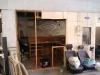 Neugestaltung des Clubraumes in der Halle - neue öffnung für die Tür