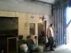 Neugestaltung des Clubraumes in der Halle - Kay kommt aus der alten Türöffnung