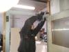 Neugestaltung des Clubraumes in der Halle - Tür im Rahmen