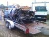 Manus Ford Escort auf dem Weg zum Schrottplatz - Escort Kombi zusammengefaltet