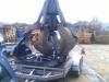Manus Ford Escort auf dem Weg zum Schrottplatz - ab in die Presse
